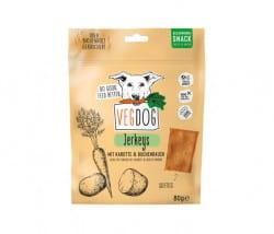 VegDog JERKEYS - Snack mit Karotte und Buchenrauch