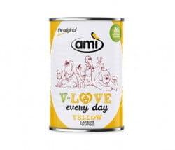 AMI Dog V-Love YELLOW every day Hunde Nassfutter Vegan mit Karotte & Kartoffel bestellen