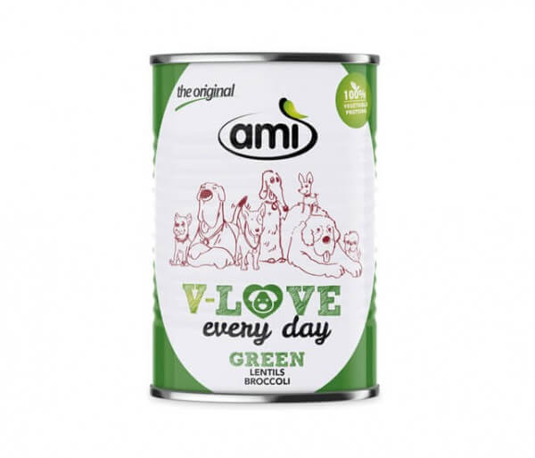 AMI Dog V-Love GREEN every day veganes Hundefutter mit Linsen kaufen