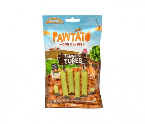 Benevo Pawtato Seaweed Tubes veganes Hundeleckerli / Snack für Hunde 90 g