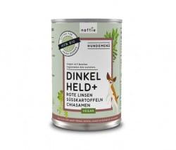 Naftie Dinkel Held Bio Hundefutter mit Linse, Süßkartoffel & Chia